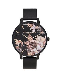 olivia-burton-shoreditch-black-floral-dial-leather-strap-watch-black
