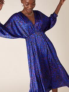 monsoon-animal-print-satin-midi-dress-blue