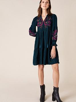 monsoon-embroidered-velvet-midi-dress-teal