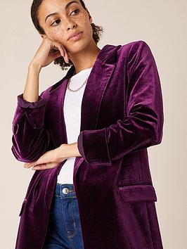 monsoon-plain-velvet-jacket-plum