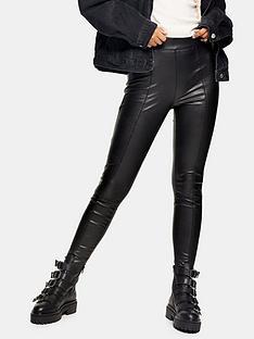 topshop-sara-pu-trousers-black