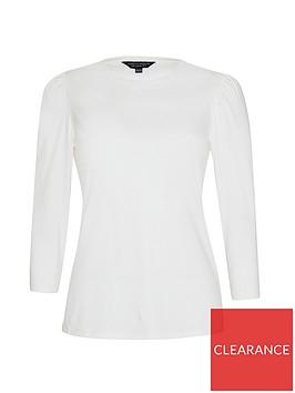 dorothy-perkins-organic-puff-sleeve-top-white
