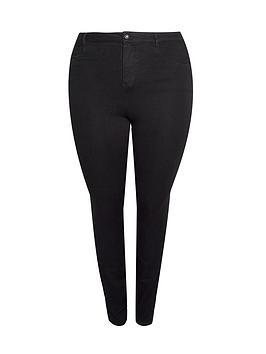 dorothy perkins curve ellis skinny jeans - black, black, size 20, women