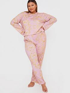 in-the-style-curve-in-the-style-curve-x-gemma-collinsnbspbaroque-print-long-sleeve-nightwear-set-pink