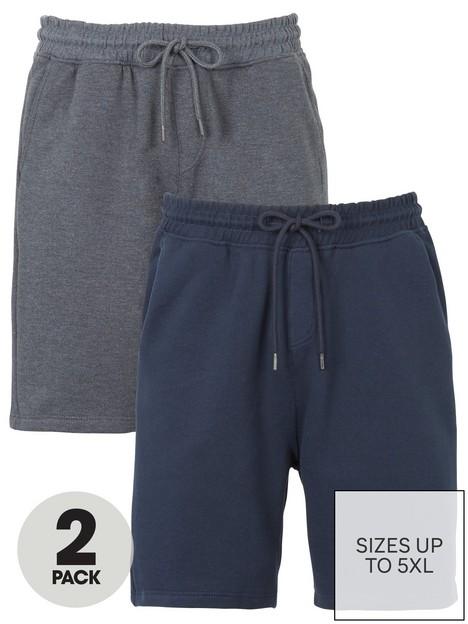 very-man-2-pack-essential-jog-short-navy-amp-charcoal-marl