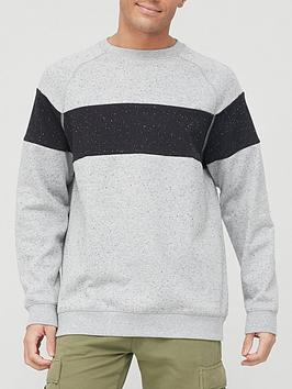 very-man-chest-panel-sweatshirt-grey