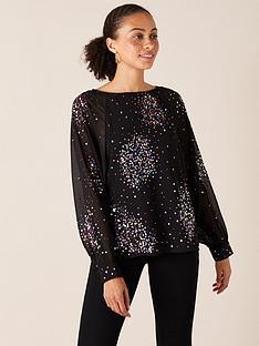 monsoon-lucienne-sustainable-embellished-blouse-black