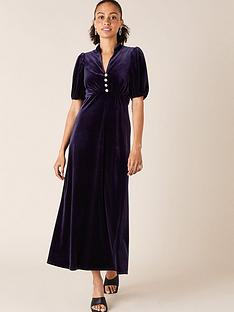 monsoon-veronique-velvet-shirt-dress-plum