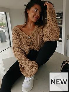 in-the-style-in-the-style-x-lorna-luxe-bellenbspcrochet-balloon-sleeve-oversized-cardigan-tan