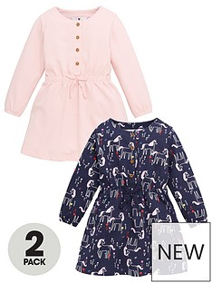 mini-v-by-very-girls-2-pack-long-sleeve-button-up-dresses-multi