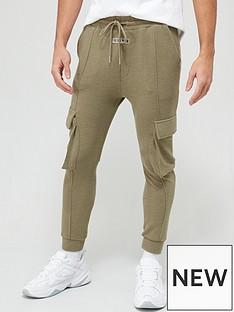 il-sarto-il-sarto-textured-rib-cargo-sweatpants