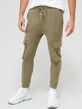 il-sarto-textured-rib-cargo-sweatpants-olive-green