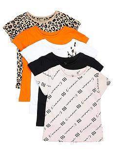 river-island-mini-mini-girls-5-pack-short-sleeve-t-shirts--nbspmulti