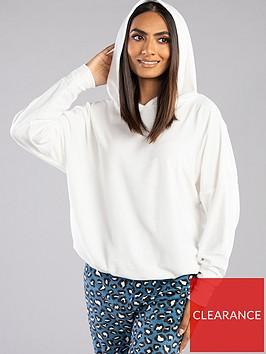 boux-avenue-velour-drawstring-pyjama-hoodie-cream