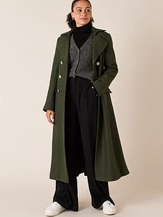 monsoon-military-long-coat-khaki