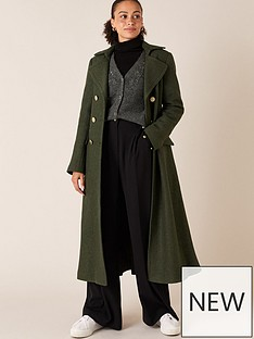 monsoon-military-long-coat-khaki