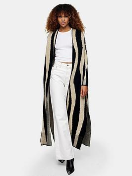 topshop-brushed-patterned-maxi-cardigan--nbspmono