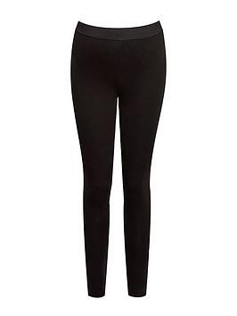 dorothy perkins maternity underbump organic cotton leggings - black