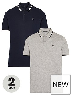 very-man-2-packnbsptipped-pique-polo-navygreynbsp