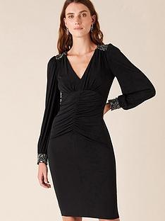 monsoon-ivie-trim-short-jersey-dress-black