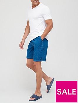 very-man-contrast-stitch-longer-swim-short-blue