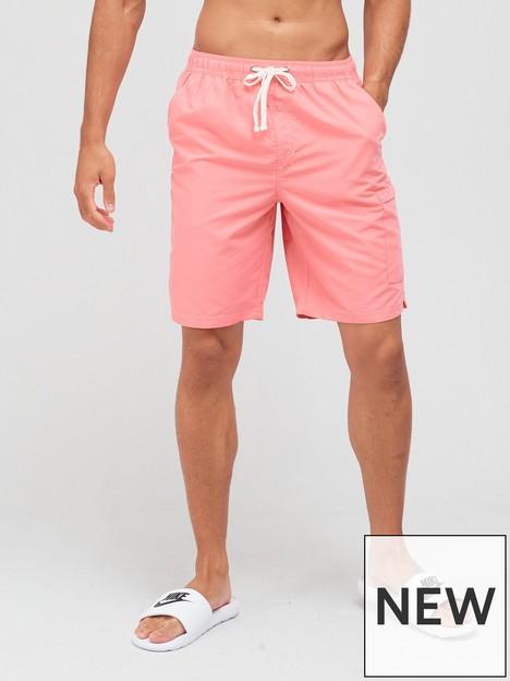 very-man-contrast-stitch-longer-swim-short-pink