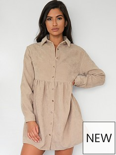 missguided-shirt-smock-dress-ls-cord