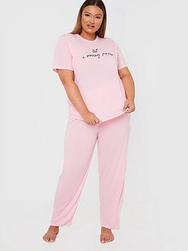 in-the-style-curve-in-the-style-curvenbspx-gemma-collinsnbspnot-anbspmorning-person-nightwear-set-pink