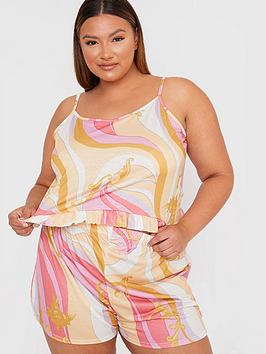 in-the-style-curve-in-the-style-curve-x-gemma-collinsnbspkaleidoscope-print-cami-nightwear-set-pink