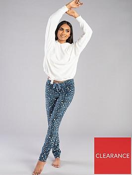 boux-avenue-leopard-velour-pyjamanbsplegging-teal