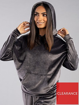 boux-avenue-velour-piped-pyjama-hoodie-charcoal
