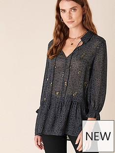 monsoon-heart-print-blouse-grey