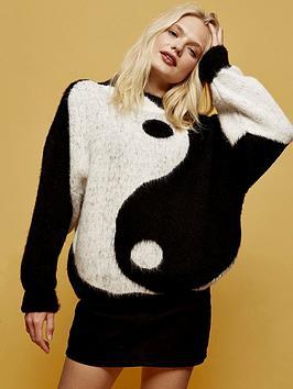 topshop-oversized-yin-yang-jumper--nbspblackwhite