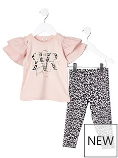 river-island-mini-girls-2-piece-leopard-legging-and-frill-t-shirt-setnbsp--pink