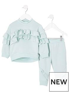 river-island-mini-mini-girls-frill-scuba-tracksuit-mint