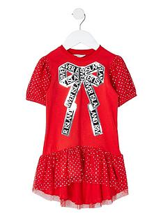 river-island-mini-girls-sequin-spot-bow-t-shirt-dress-red