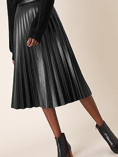 monsoon-pleated-pu-midi-skirt-black