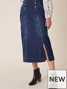 monsoon-denim-midi-skirt-blue