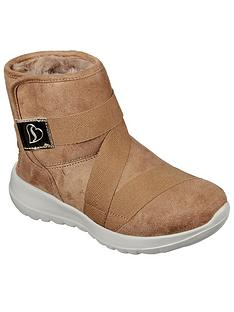 skechers-girlsnbspgo-walk-joy-ankle-boot-chestnut