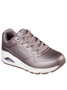 skechers-girlsnbspuno-lace-trainer-metallic