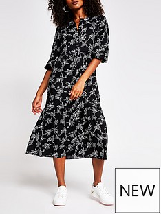 river-island-printed-smock-midi-dress-multi