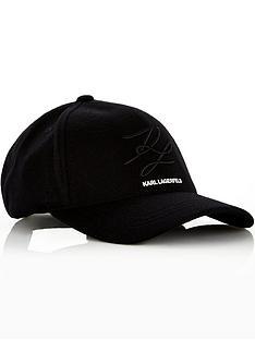 karl-lagerfeld-menrsquos-logo-baseball-cap-black