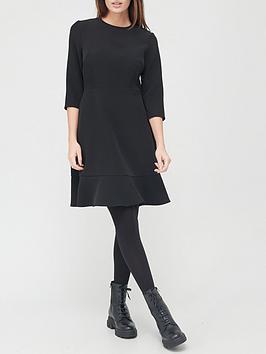 v-by-very-pep-hem-mini-dress-black