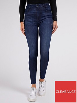 guess-super-high-rise-skinny-jeans-blue