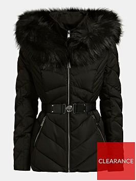 guess-sara-short-down-padded-jacket-black