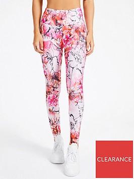 guess-floral-print-microfiber-leggings-pink