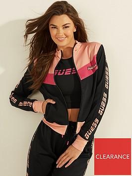 guess-colourblock-zip-through-jersey-jacket-black