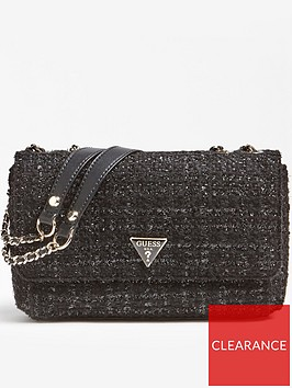 guess-cessily-tweed-convertible-cross-body-bag-black