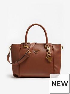 guess-destiny-logo-cross-body-satchel-brown