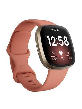 Fitbit Versa 3 - Pink Clay/Soft Gold